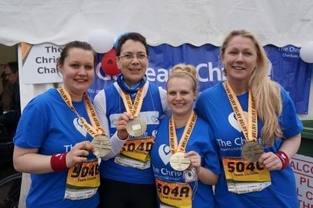 April 2013 - The Manchester Marathon Relay Team Girls - running for Paul with lots of love xxxx