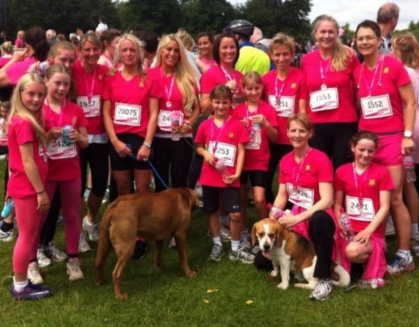Race for Life - Tatton Park - June 2013 - The Ryleys Team - together we can beat cancer xxxxx