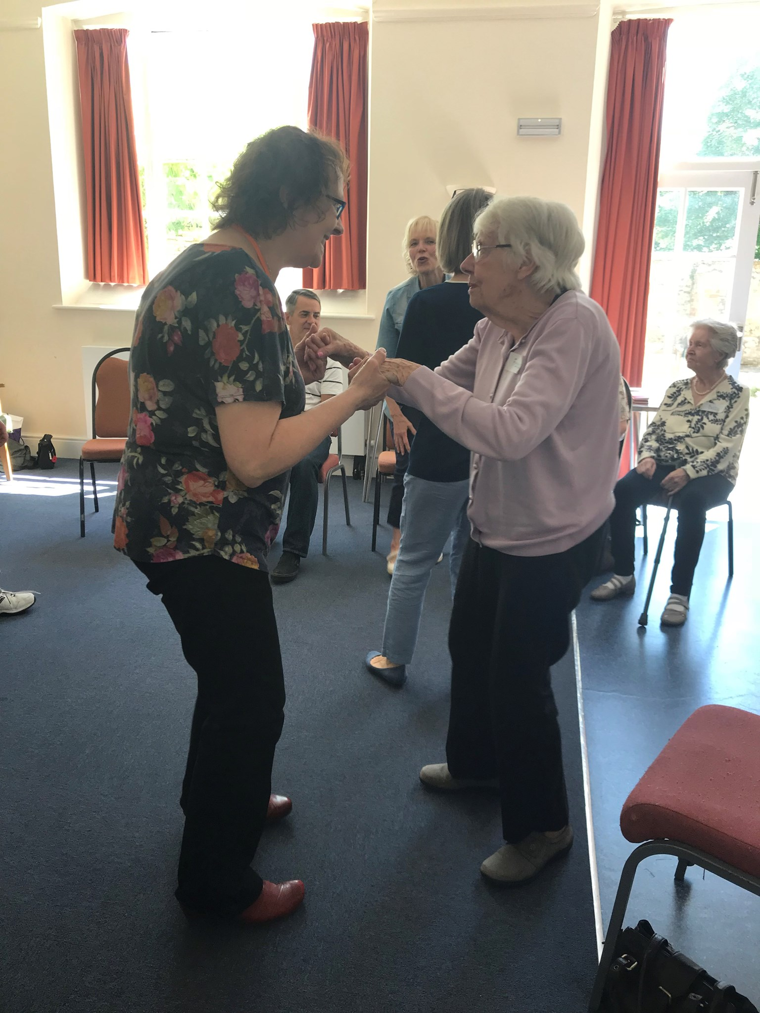 Enjoying a dance at lights up group in Witney on 11/6/2018