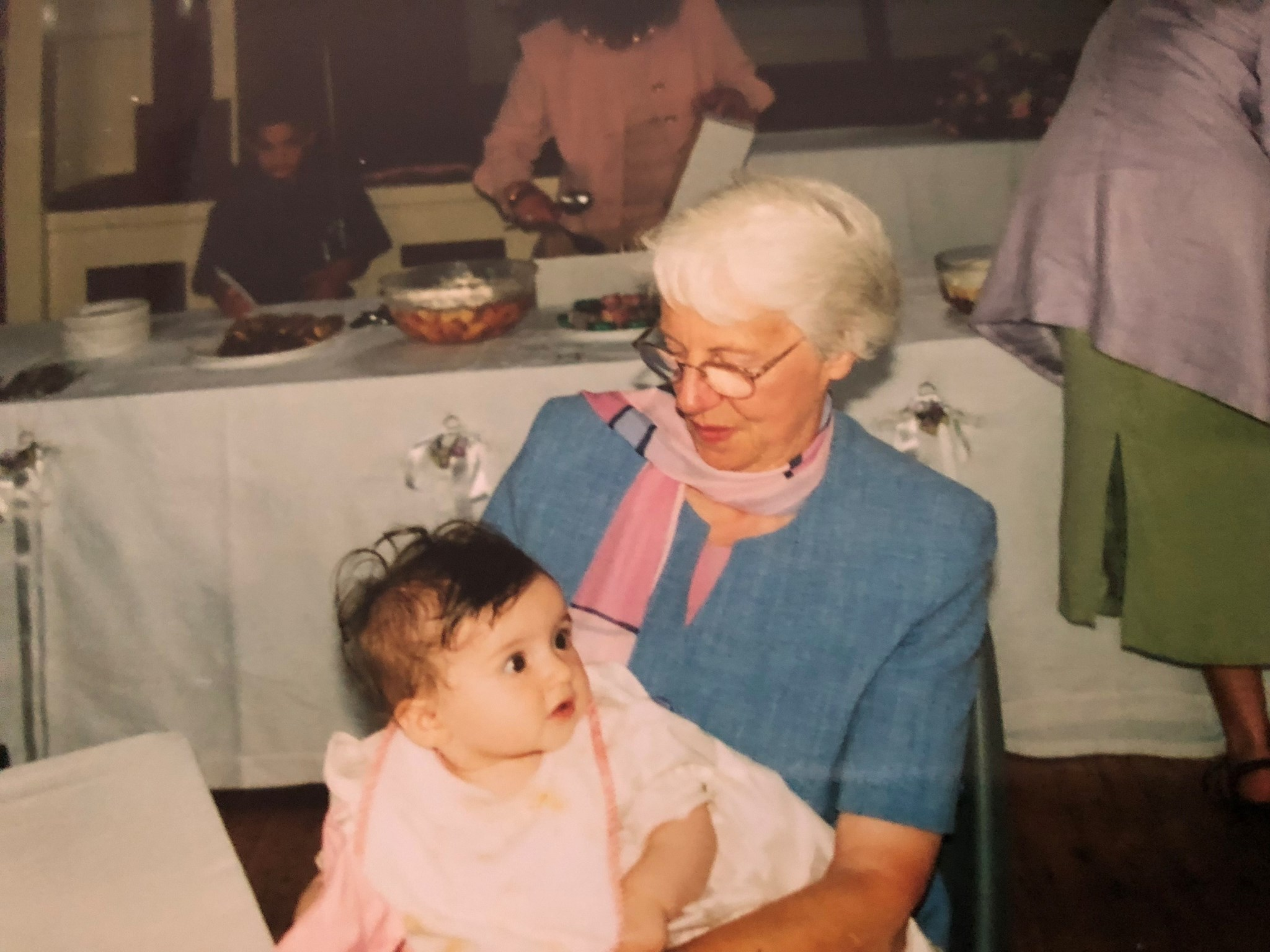 At Amy's christening in 2001