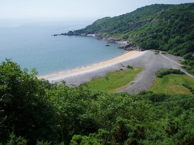 Pwll Du beach on the Gower where Lucy still swims