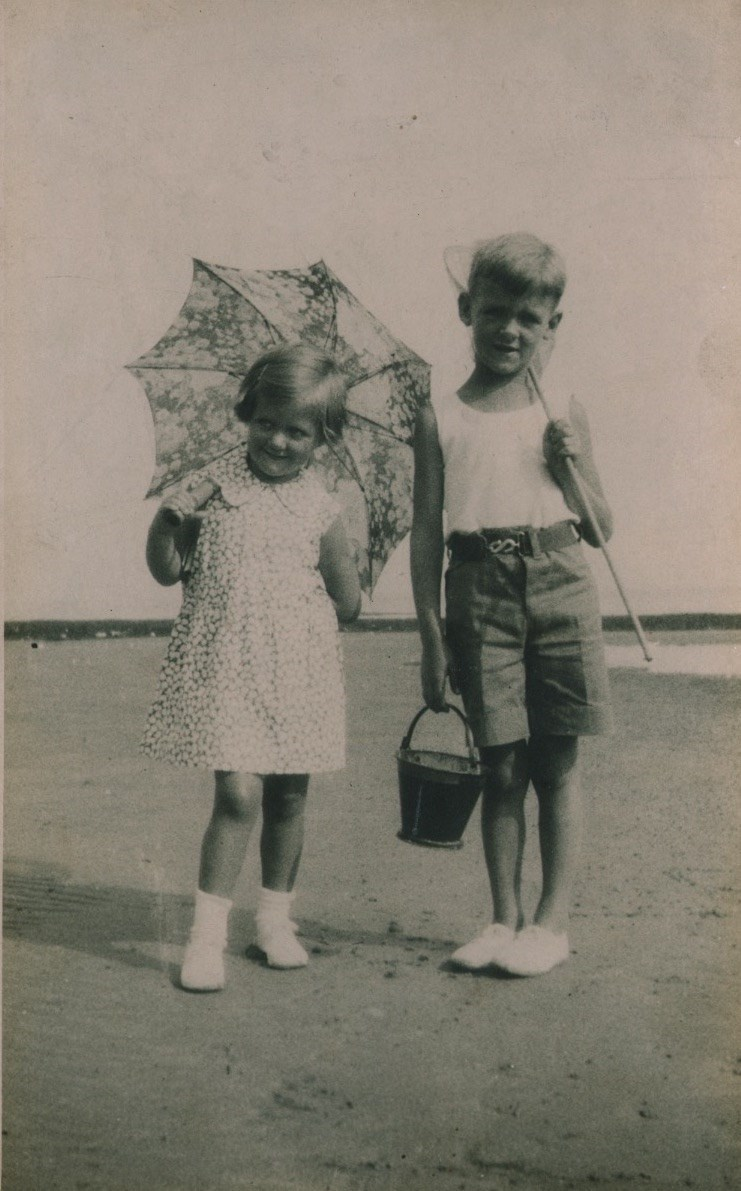 Jean and Donald at the seaside
