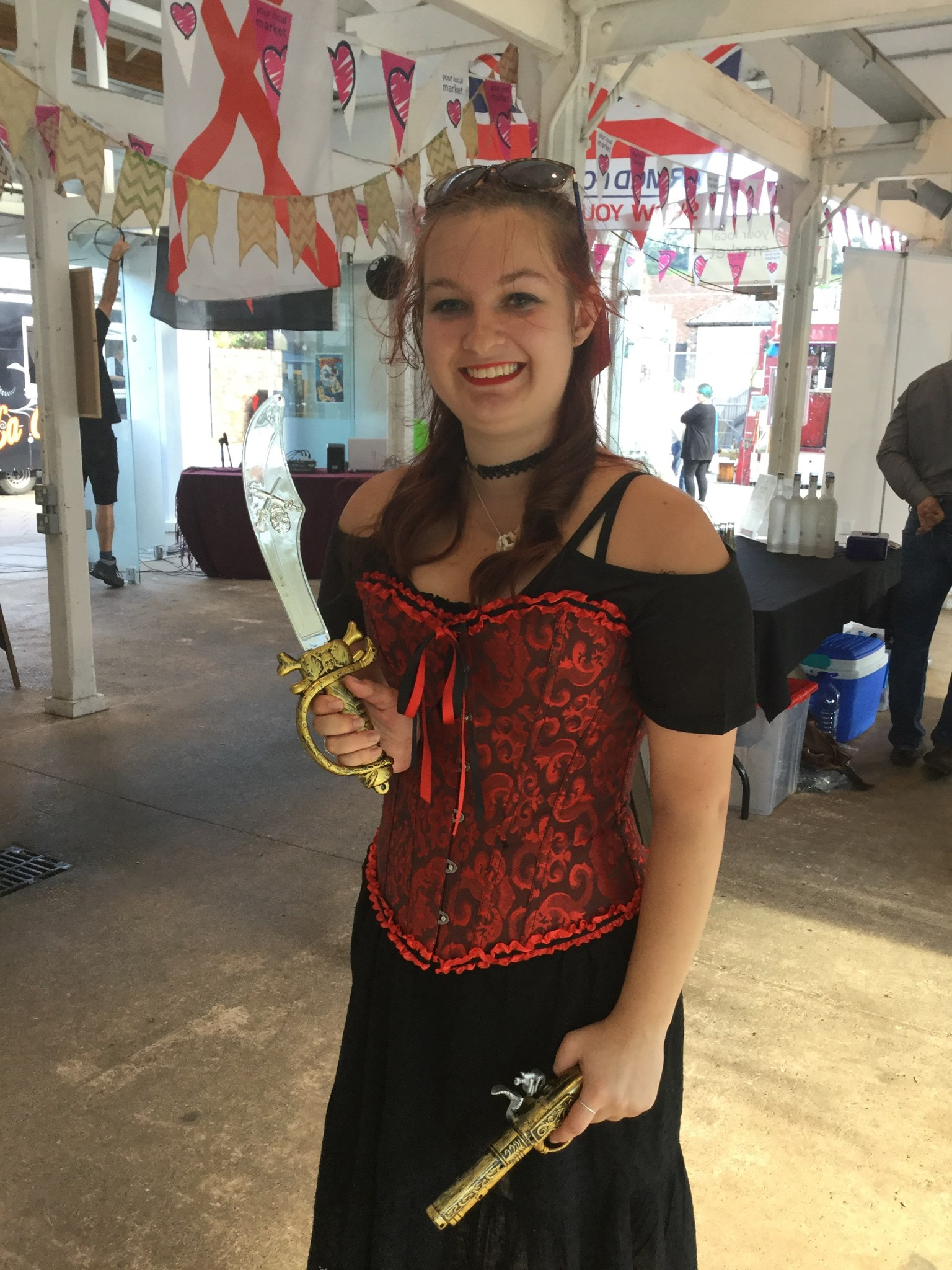 Clarissa at the Pirate Streetfood event Aug 2017