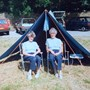 Always happy on a campsite! Scarisbrick 1990 - 70 years of Guiding