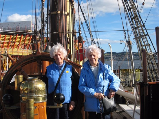 Mollie's last visit to Scotland, September2016. Discovery, Dundee.