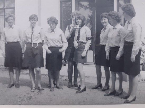 Mollie and Joyce with unit leaders .Buitenzorg, Holland,c.1969