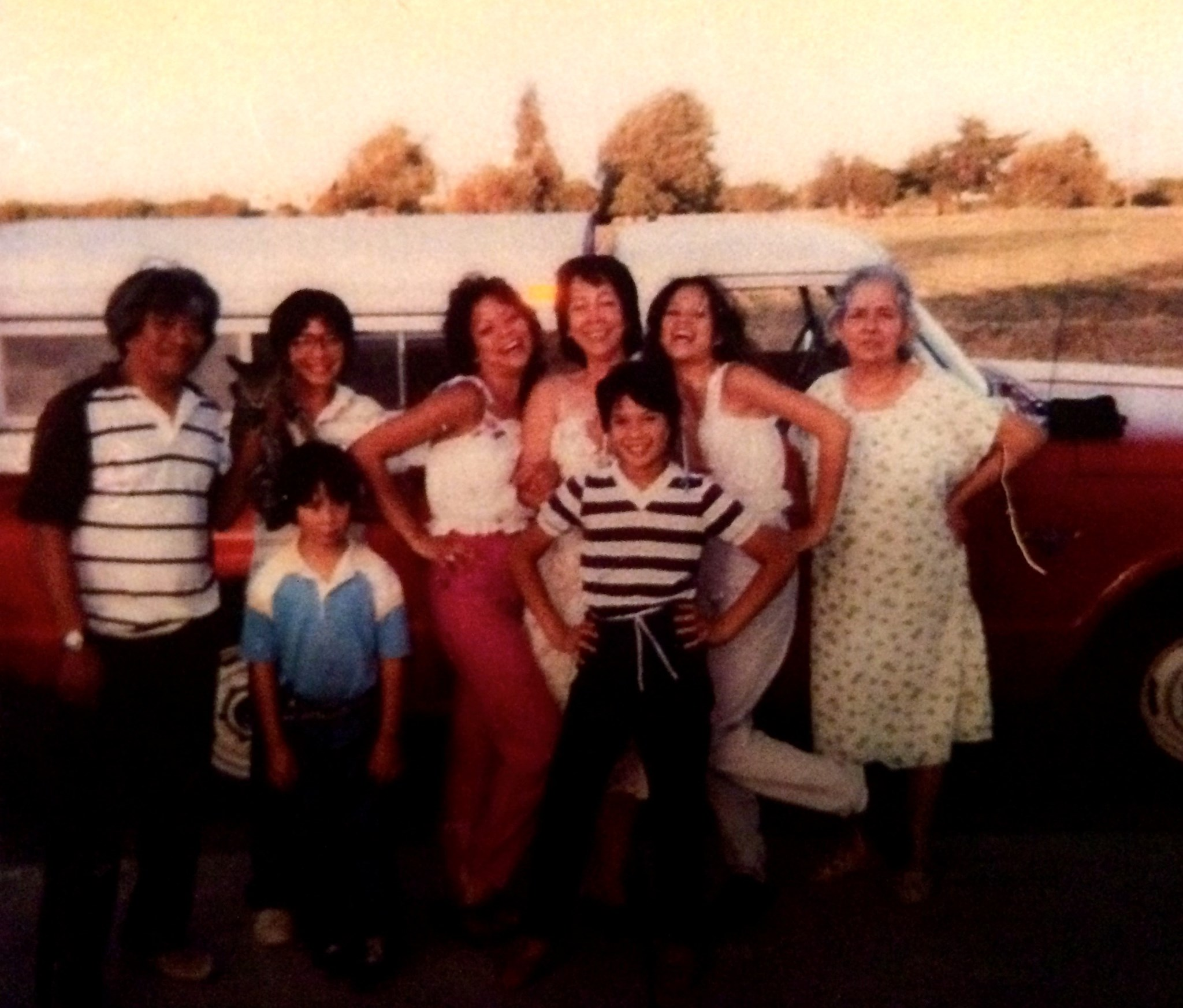 Victor, Vincent Ian, Angela, Becky, Christine, Teresa and sister-in-law Dolores