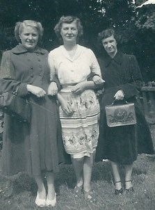 Mum with two of her sister in laws