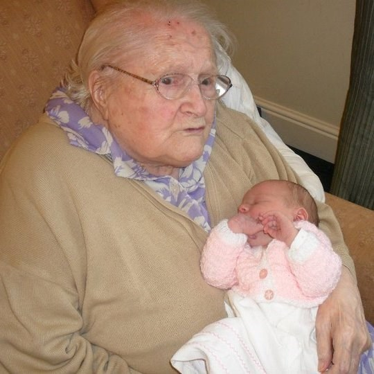 May with one of her great grand children