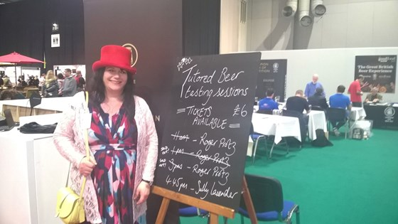 Sally in her element, delivering tutored tastings at the BBC Good Food Show 2017