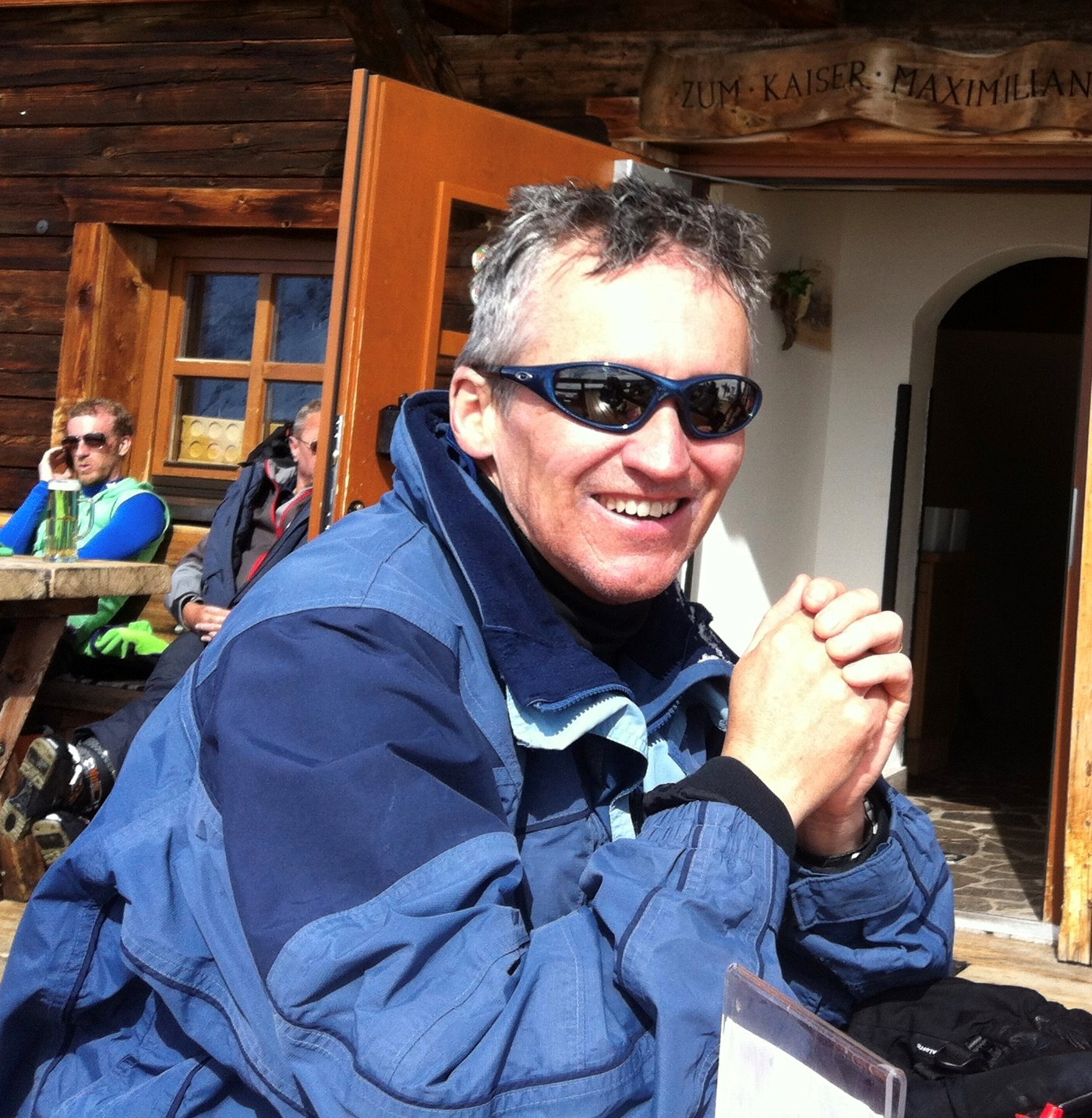 Mike in the mountains - where he was happiest!