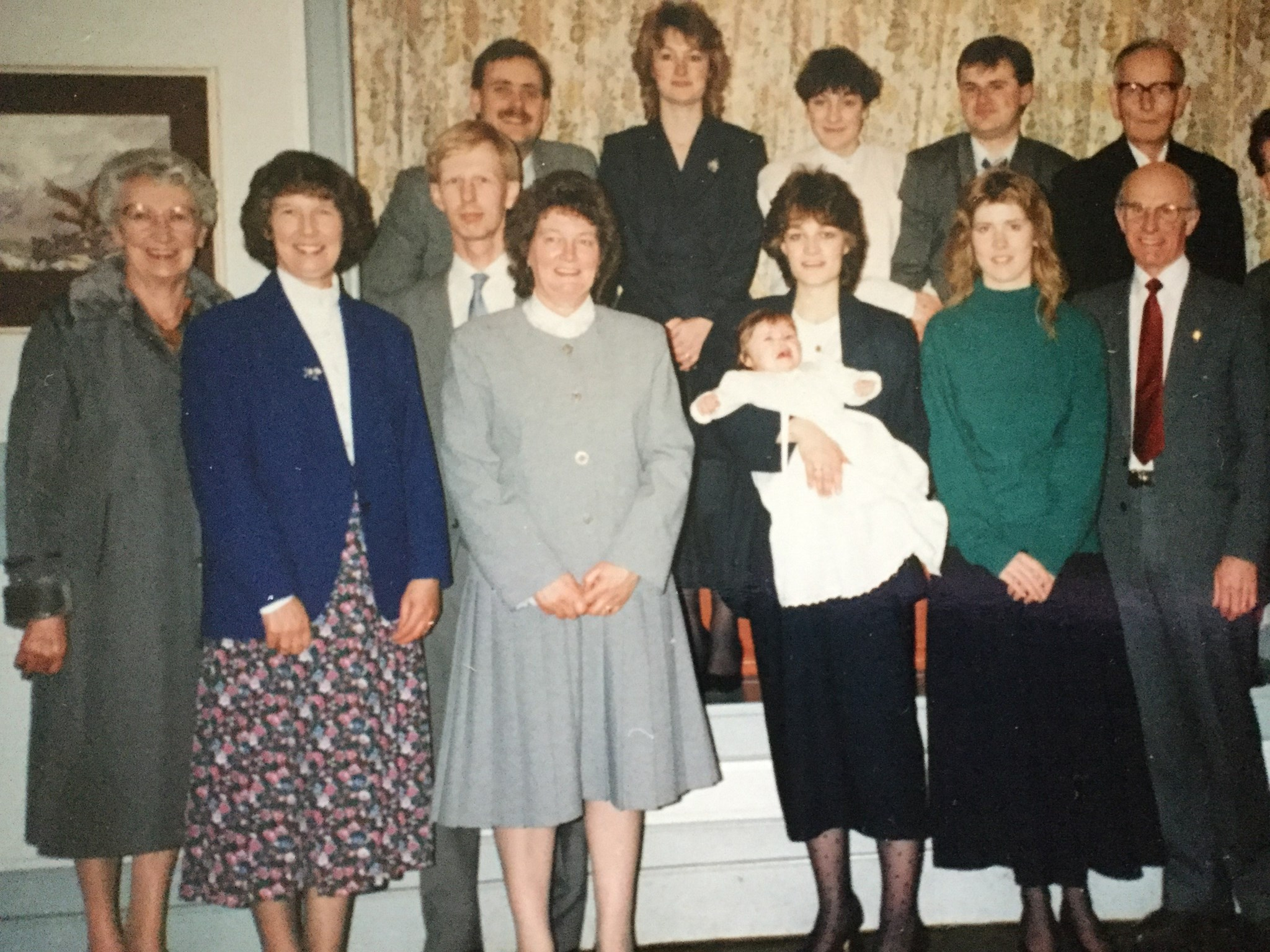 'Adopted' great grandma at Lauren's christening - 17.2.91