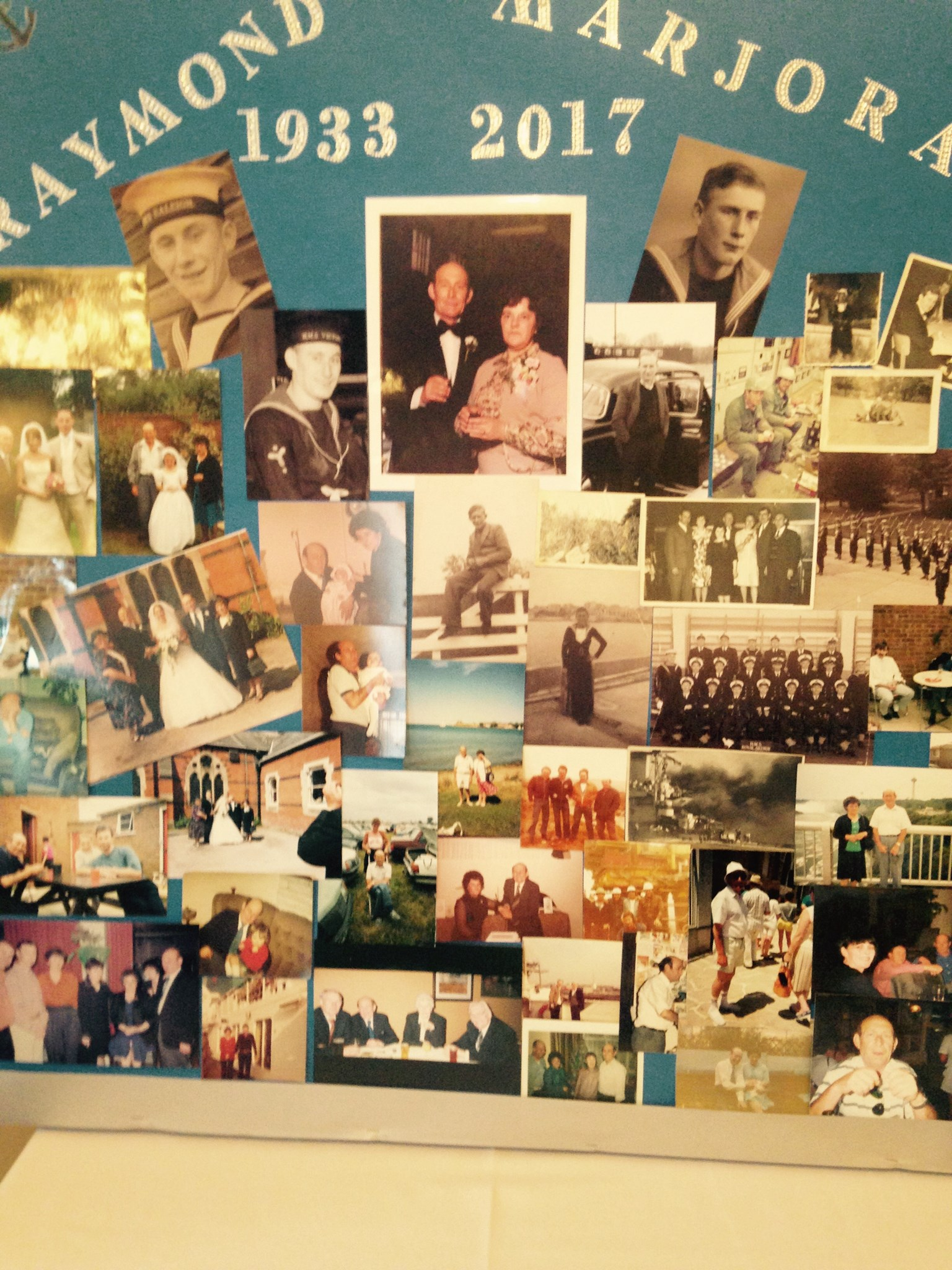 Memory board done by Ray's Grandaughter Amie x