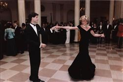 John Travolta and PrincessDiana dancing