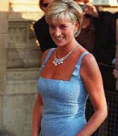 diana in a blue dress