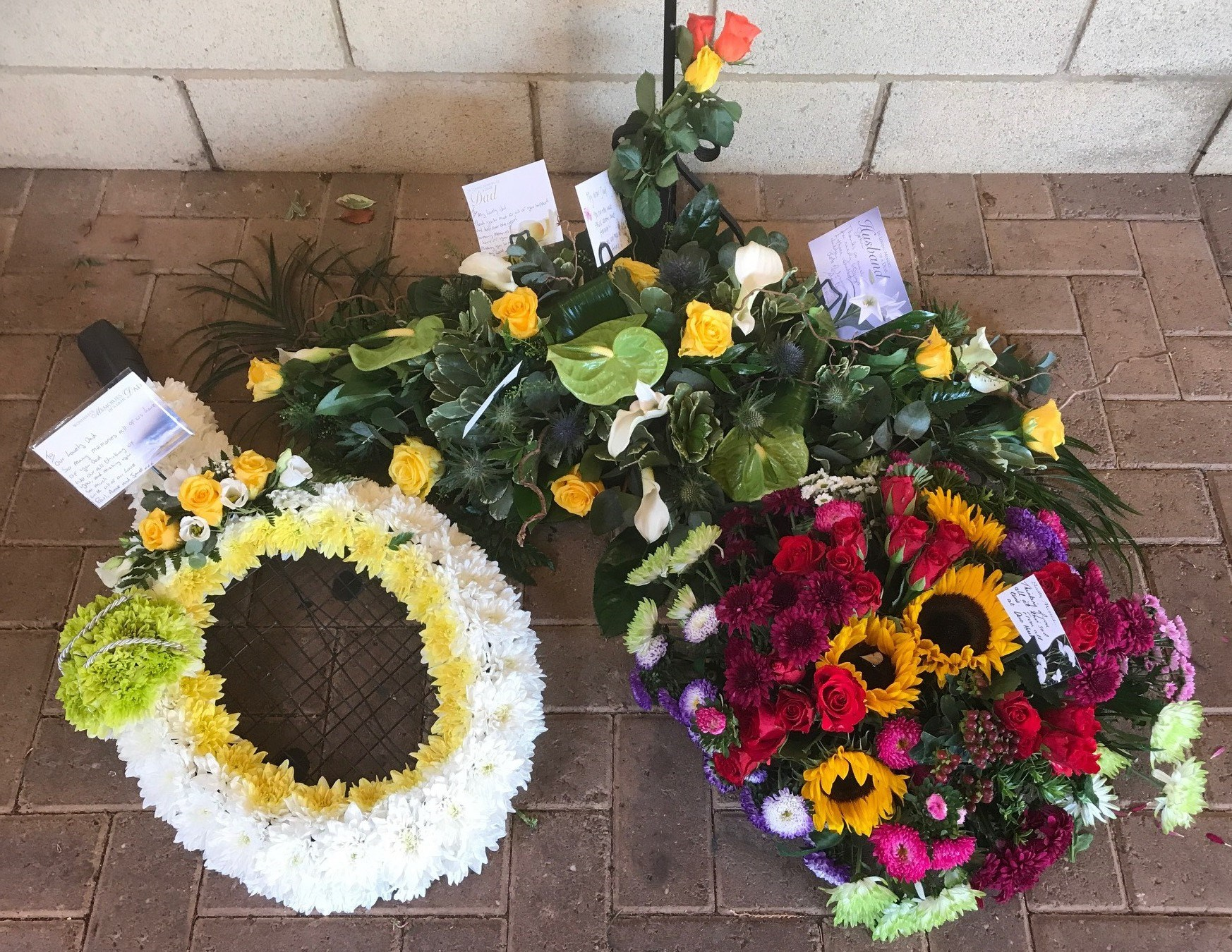 Floral tributes for John Beamish