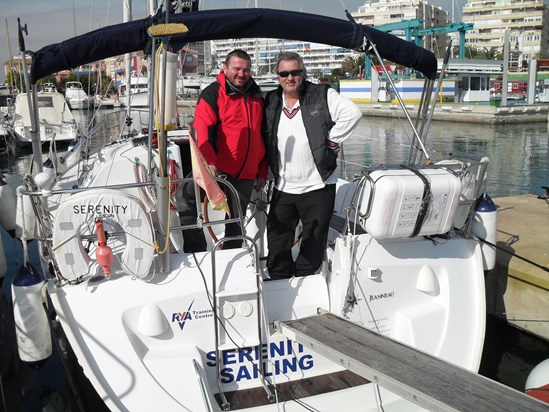 Going through some old pics and came across this one of both of us passing our RYA Skipper 'ticket' in Torrevieja. Gone but not forgotten Ship-Mate. Paul Godfrey