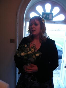 Gemma so proud and beautiful at her mum Debbie's wedding in 2006