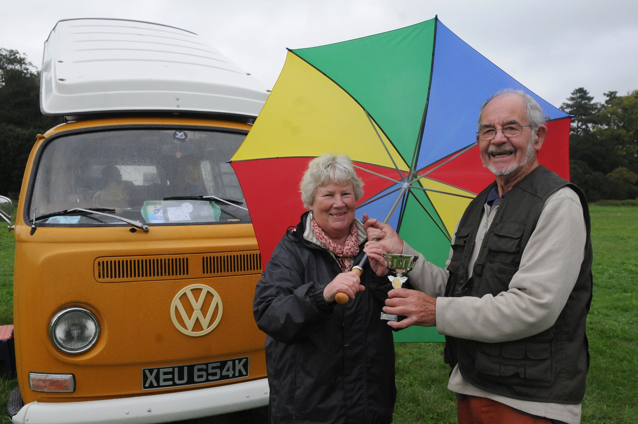 A proud moment when Mum and Dad won a trophy at the Berkely VW Show 2013.
