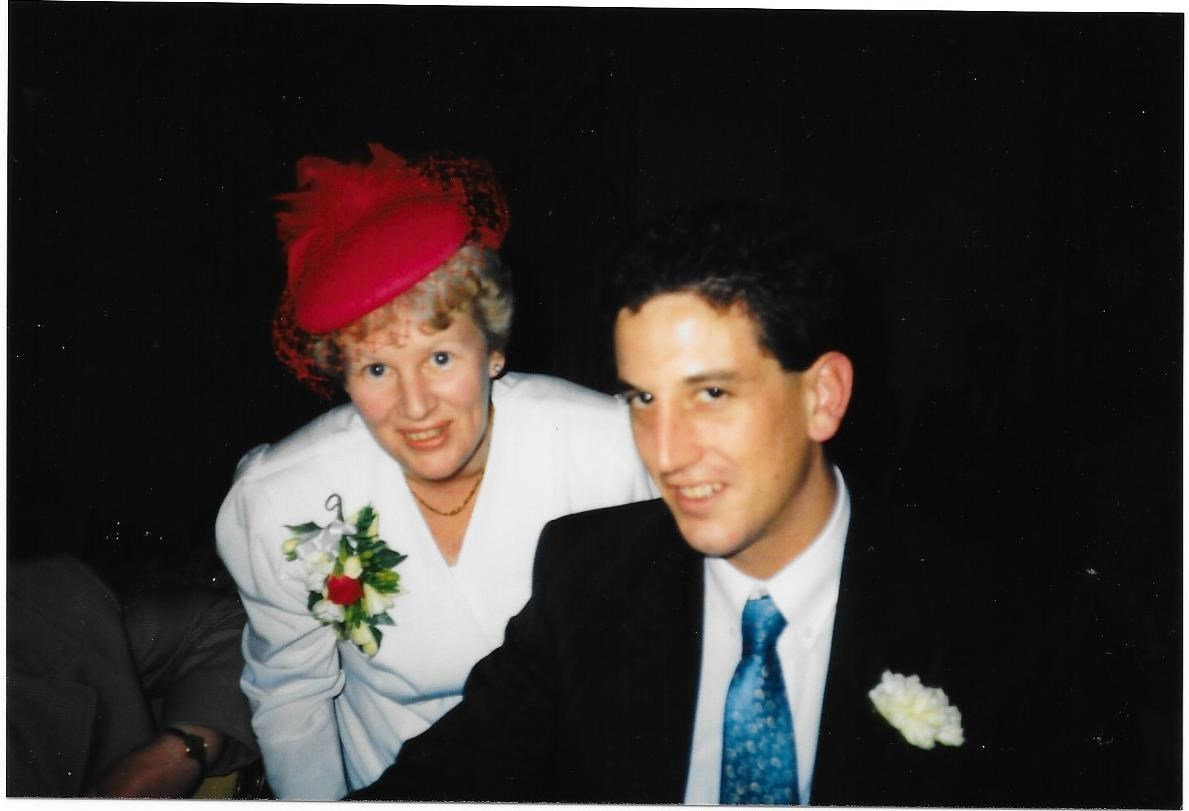 Debby and James 27th April 1991 at Richard and Anne's wedding