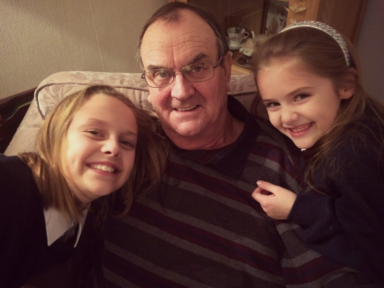 Roger and his granddaughters, Lillie and Summer