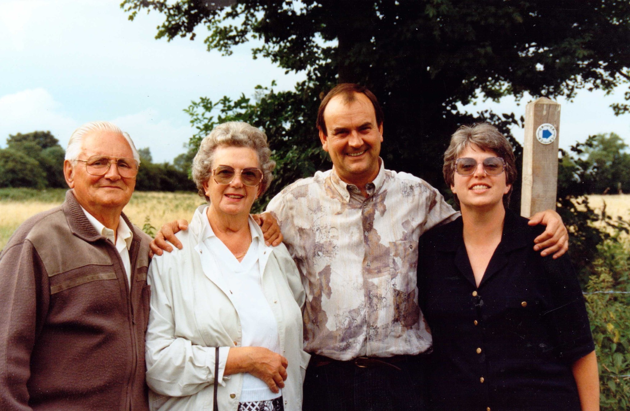 Roger with his parents, George & Mary, and sister, Sally-Ann