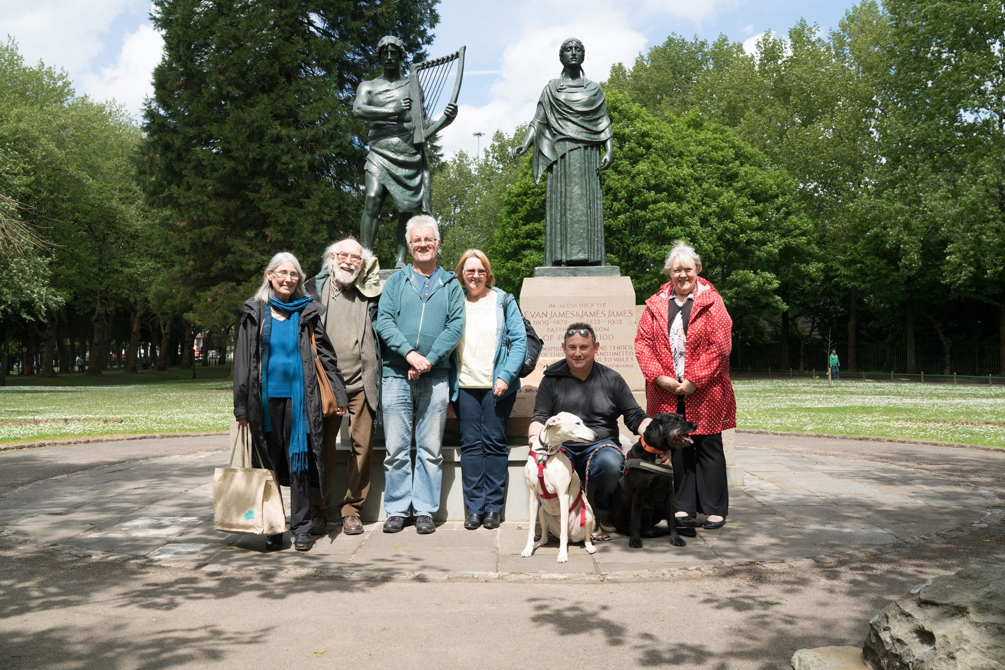 Alan with Family, Pontypridd Park, May 2017