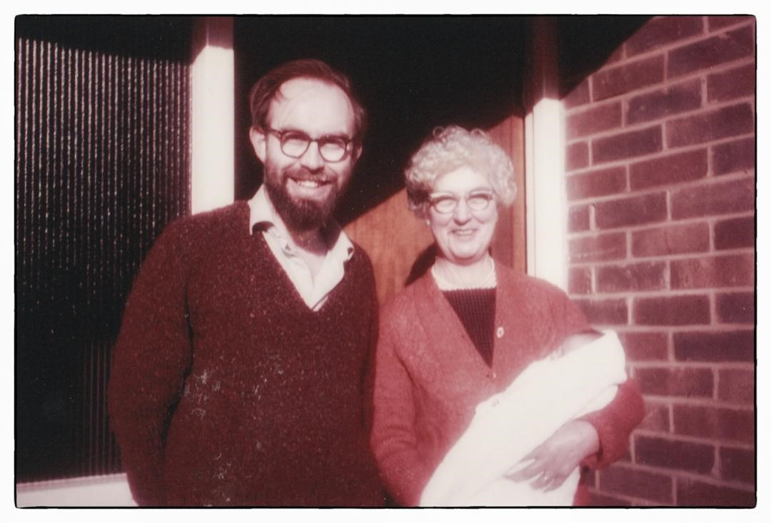 Alan with Mam and Gareth at home, Upper Norwood 1967