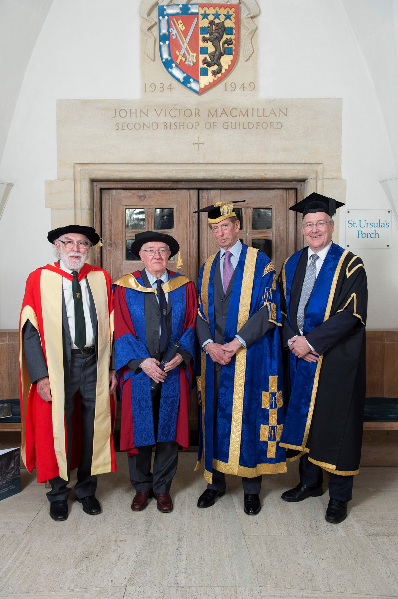 Honorary degree ceremony for Professor Peter Flewitt at Guildford Cathedral