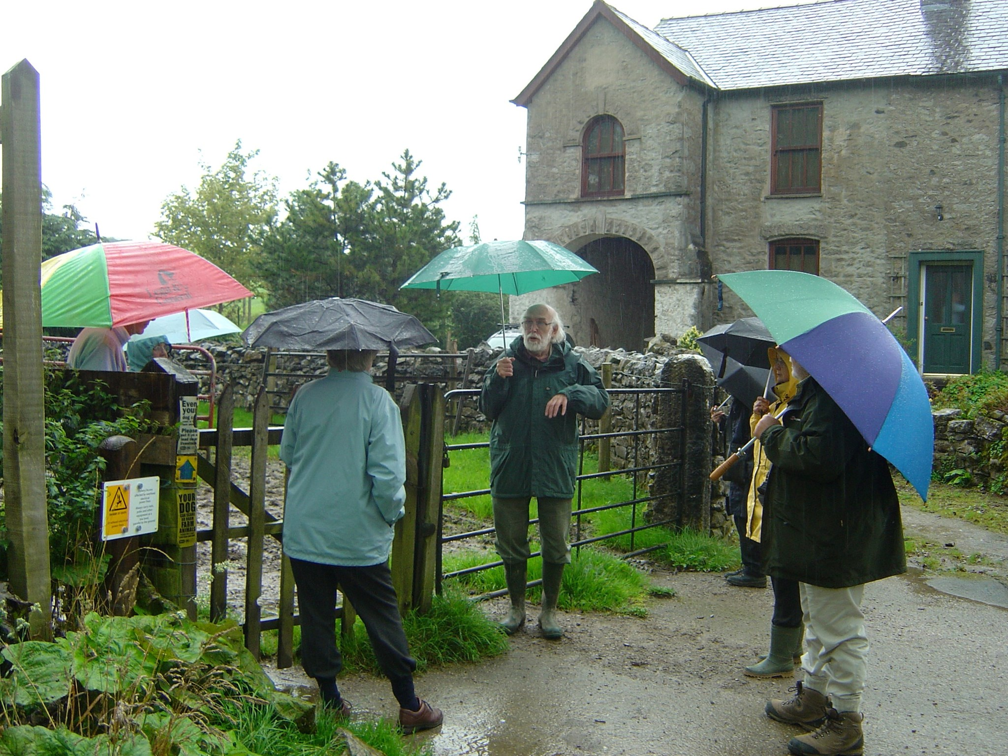 Alan leading former Battersea students and wives to the site of a gunpowder factory, Kendall 2008