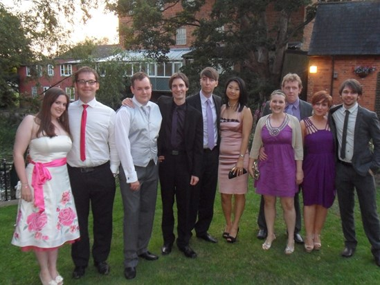 Leafy with friends at Neil and Gill's wedding