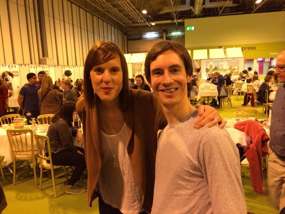 Leafy with his hero Francis (Winner of Great British Bake Off 2013)