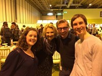 Leafy and Nicki with Howard and Christine from The Great British Bake Off 2013