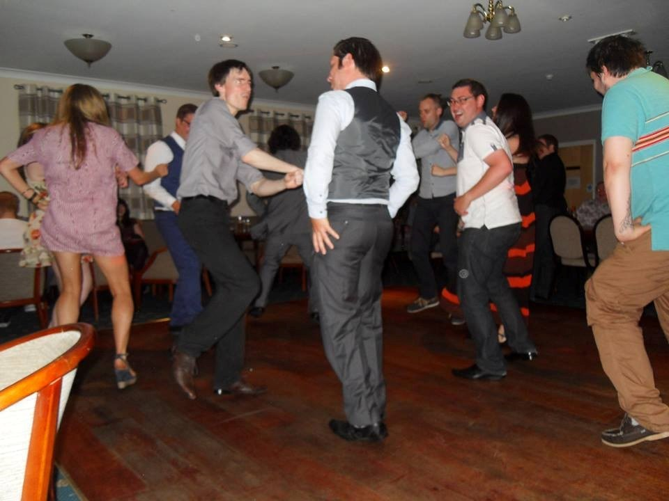 Leafy busting more moves at Mark and Sam's Engagement Party