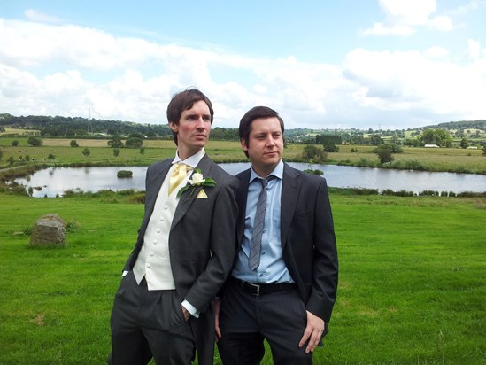 Leafy and Dave straight from a catalogue page (Kenny and Nicki's wedding)
