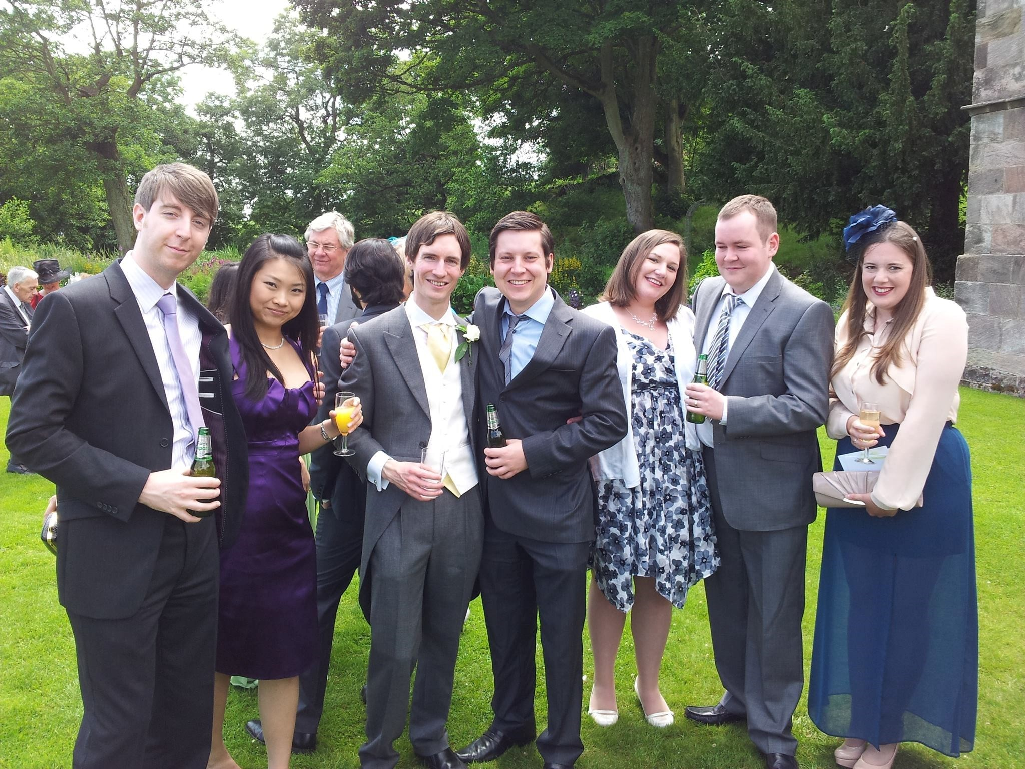 Ian with close friends at Kenny and Nicki's wedding