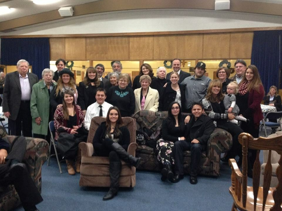 Palladino/Blanchard Family at Church Service - 12/30/14