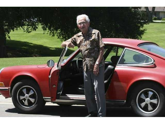 John Palladino and his 1970 Porsche 911 in June 2010. Photo: Stephen K. Peeples.