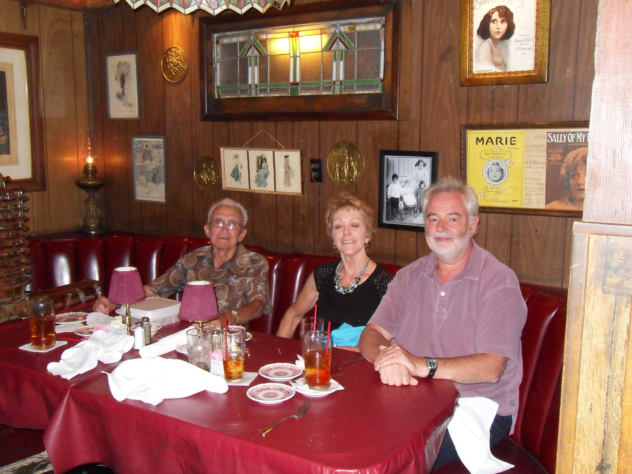 August 2013 lunch with John, Tracy & Rupert