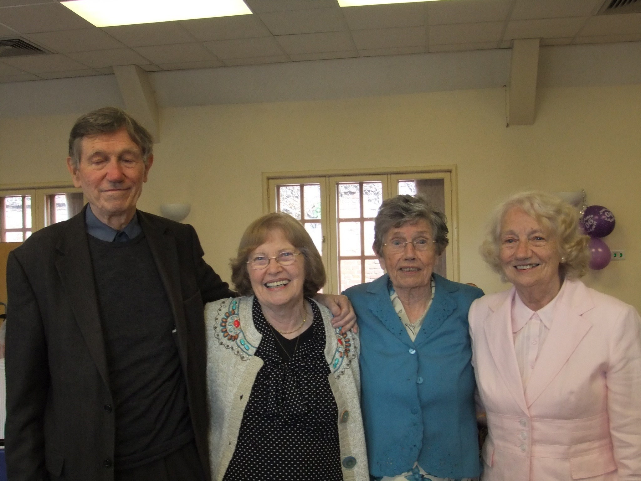 John with his sisters Winnie, Veronica and Marcella at Marcella's 90th birthday party.