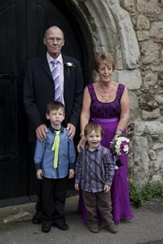 mum dell and cheeky boys.  They loved their Grandad x