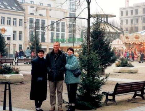 Bill, Ruth and Andrea at the Christmas Market in Germany