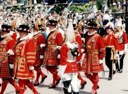 Yeoman duties at the Order of the Garter Windsor Castle 1995
