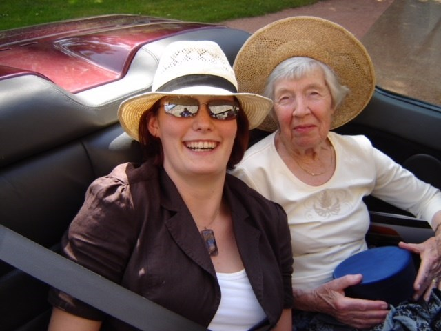 May 2007, Off to 90th birthday celebration in France