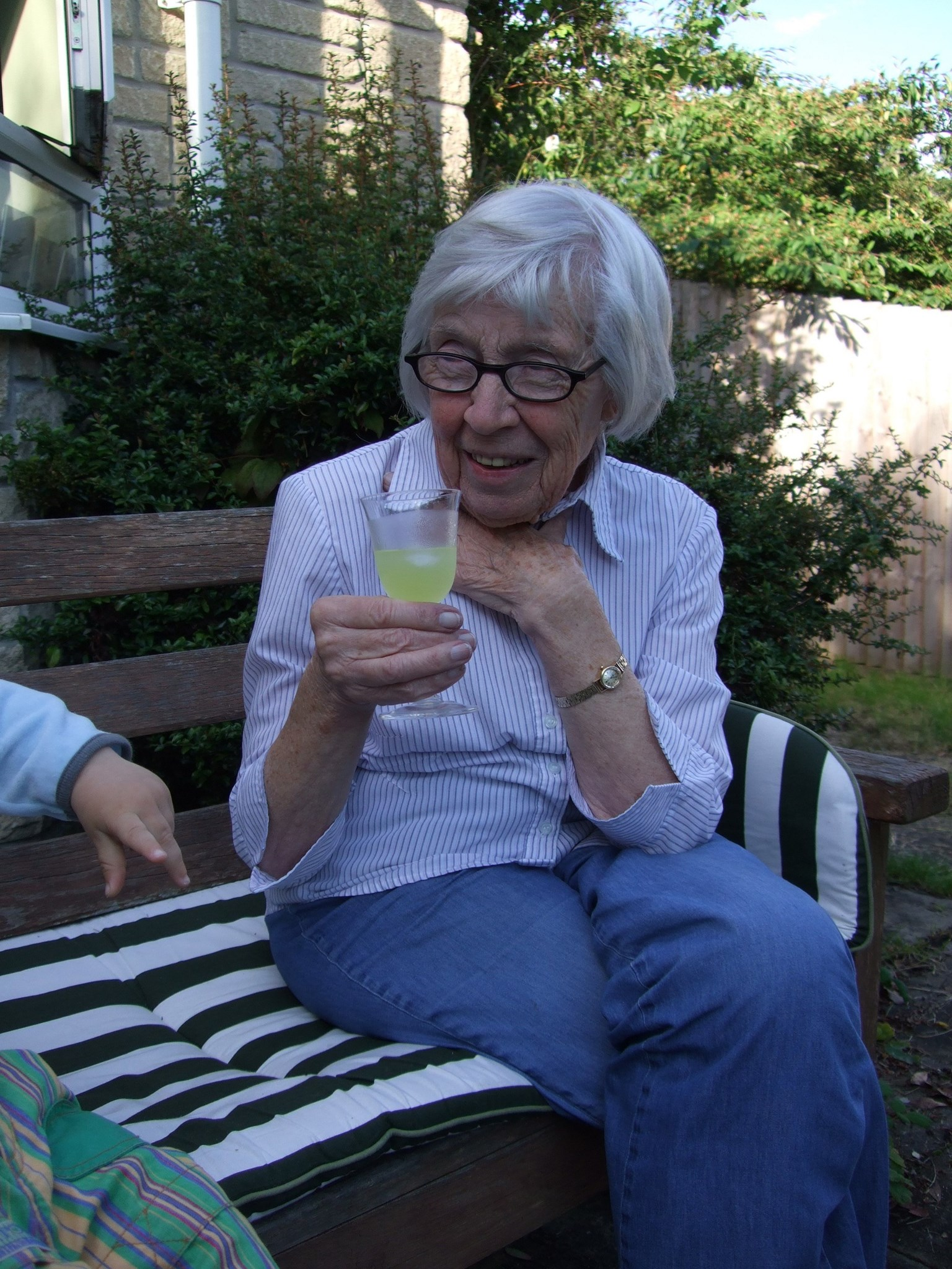 Sipping limoncello in Dorset, 2011