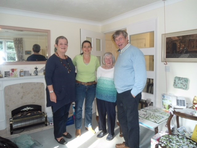 Maggie, Beth and John visit with Janette- October 2016