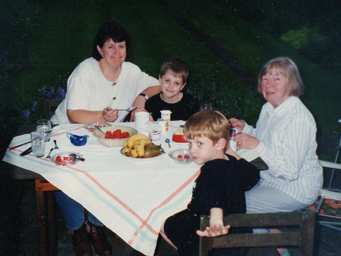 With Janet, Alex and Edward Smith 1996