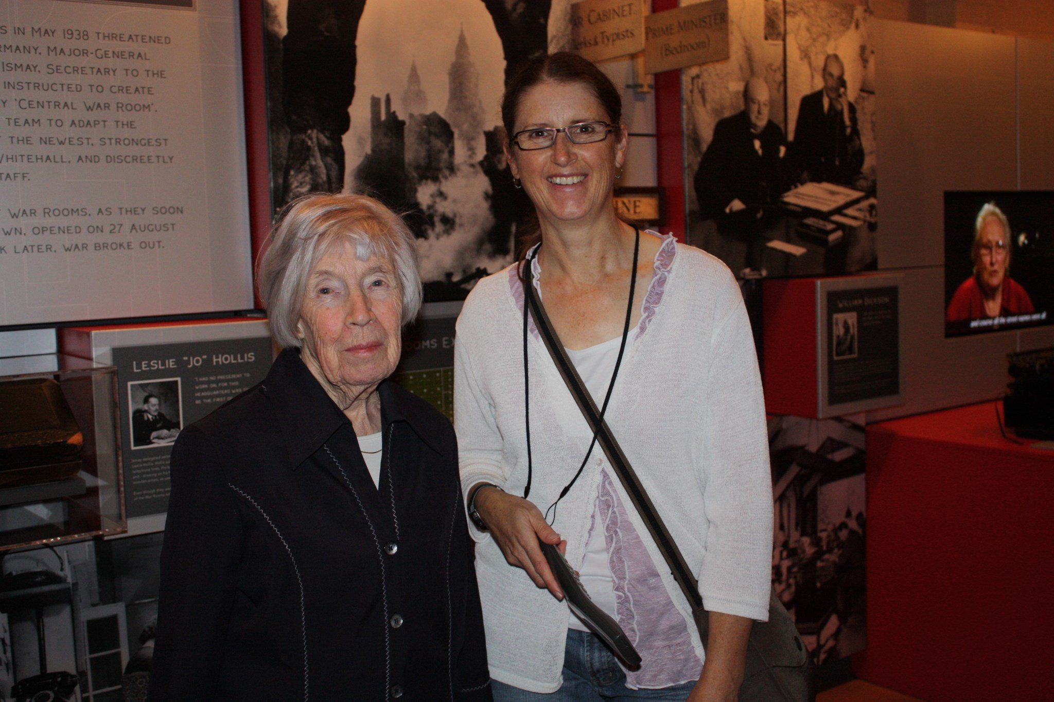 Photo of Janette and Rowena at Churchill's War Rooms in 2011.