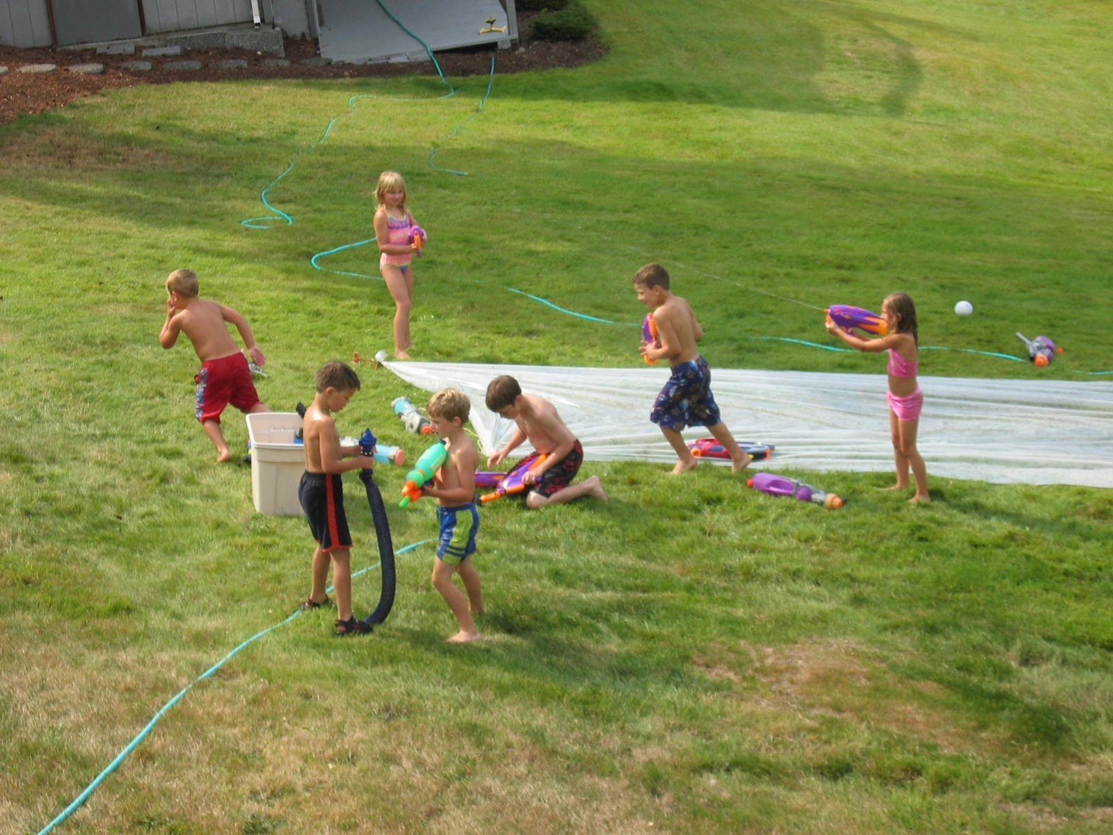 Slip 'n Slide was a fixture of Family Reunion (~2001-2007)