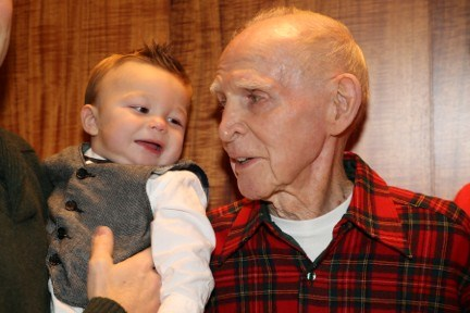 Newest Grandson Liam with Grandpa Bill